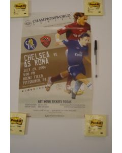 In the USA - Chelsea v Roma Championsworld poster 29/07/2004