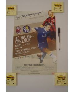 In the USA - Milan v Chelsea Championsworld poster 02/08/2004