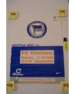 Hertha Berlin v Chelsea poster 21/09/1999 Champions League