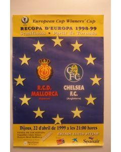 Majorca, Spain v Chelsea poster 22/04/1999 European Cup Winners Cup Semi-Final