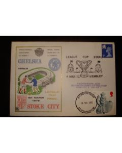 Chelsea v Stoke City First Day Cover 04/03/1972 League Cup Final