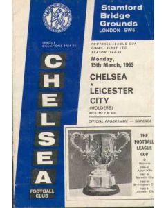 1965 League Cup Final 1st Leg Programme Chelsea V Leicester 15/03/1965
