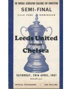 1967 FA Cup Semi-Final Programme Leeds V Chelsea 29/04/1967