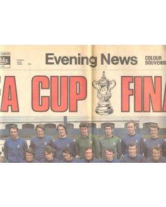 1970 Chelsea v Leeds United FA Cup Final match Evening News newspaper of April 1970