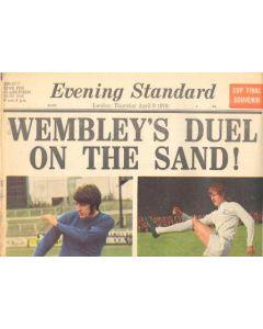 1970 Chelsea v Leeds United FA Cup Final match Evening Standard newspaper of 09/04/1970