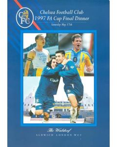 Chelsea 1997 FA Cup Final Dinner menu 17/05/1997