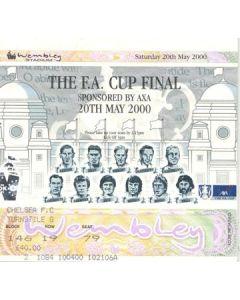 2000 FA Cup Final ticket Aston Villa v Chelsea 20/05/2000