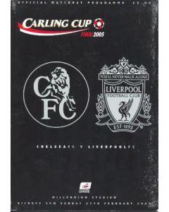 2005 League Cup Final Programme Chelsea v Liverpool 27/02/2005