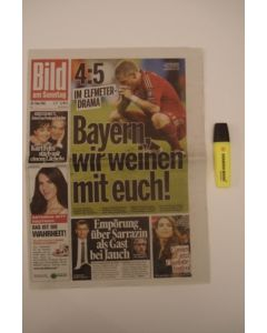 2012 Champions League FinalChelsea v Bayern Munich 19/05/2012 Bild German newspaper's sports pages covering the final