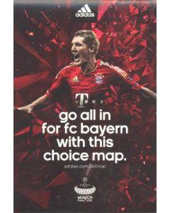 2012 Champions League Final Chelsea v Bayern Munich 19/05/2012 Bayern Choice red map