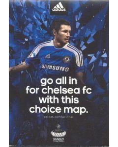 2012 Champions League Final Chelsea v Bayern Munich 19/05/2012 Chelsea Choice blue map