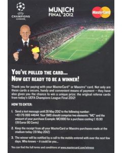 2012 Champions League Final Chelsea v Bayern Munich 19/05/2012 Master Card flyer in English and German