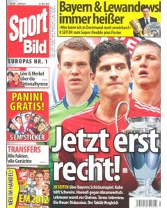 2012 Champions League Final Chelsea v Bayern Munich 19/05/2012 Sport Bild Grman magazine covering the final