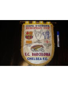 Barcelona v Chelsea 18/04/2000 European Cup Quarter Final Pennant
