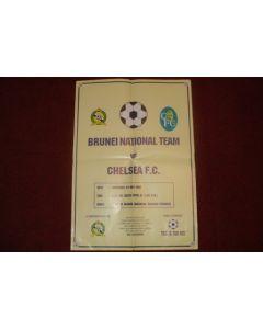 Brunei National Team v Chelsea poster 24/05/1997