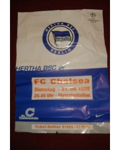 Hertha Berlin v Chelsea poster 21/09/1999 Champions League, reduced price