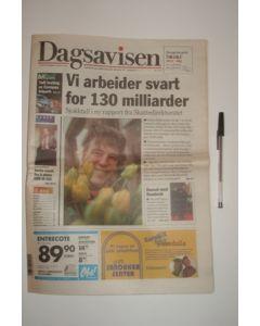 Dagsavisen newspaper of 18/03/1999, covering Tromso v Chelsea and Gianluca Vially
