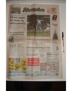 Aftenpolten newspaper of 19/03/1999, covering Valerenga v Chelsea