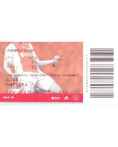 Ajax V Chelsea Ticket (Red Issue) 23/07/2010