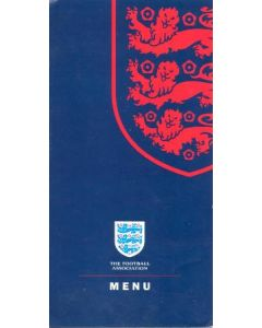 Arsenal v Chelsea official City Hall menu 04/05/2002