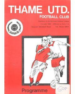 1980 Thame V Chelsea youth Tournament football Programme