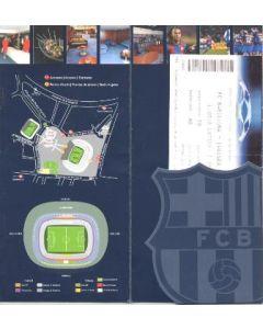 Barcelona v Chelsea VIP ticket in wallet 31/10/2006