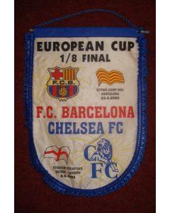 Barcelona v Chelsea 23/02/2005 large Pennant, 39 x 28 cm
