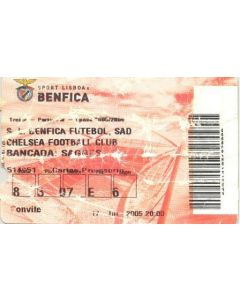 Benfica v Chelsea ticket 17/07/2005