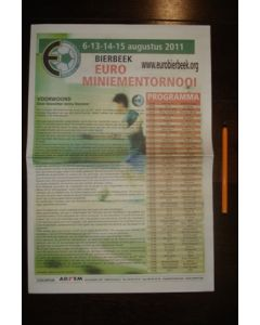 Chelsea and Everton in Bierbeek Youth Tournament August 2011 official newspaper-like programme