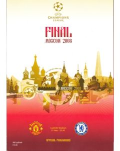 2008 Champions League Final Manchester United V Chelsea official programme