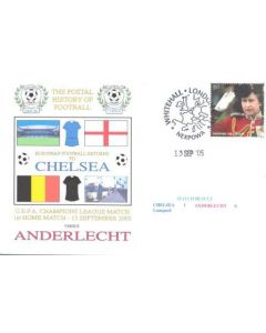 Chelsea v Anderlecht first day cover of 13/09/2005