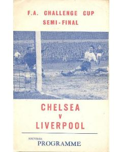1965 F.A. Cup Semi-Final Chelsea v Liverpool unofficial programme, pirate