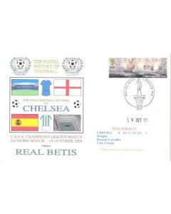 Chelsea v Real Betis First Day Cover 19/10/2005