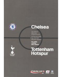2008 League Cup Final Official Programme Chelsea v Tottenham Hotspur 24/02/2008