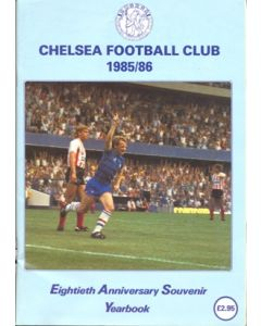 1985-1986 Chelsea 80th Anniversary Souvenir Yearbook, reduced price