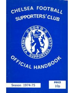 1974-1975 Chelsea Official Handbook of the Supporters' Club