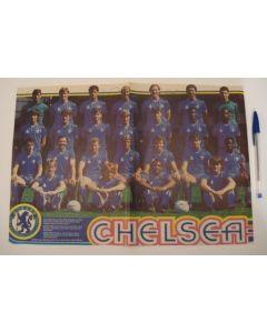 Chelsea FC multi-signed poster