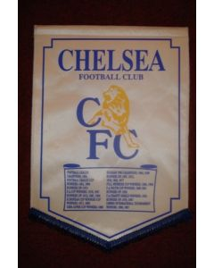Chelsea Honours from 1955 to 1997 large Pennant, 40 x 28 cm