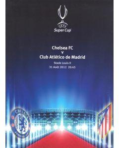2012 Super Cup Final Chelsea v Atletico Madrid press pack 31/08/2012
