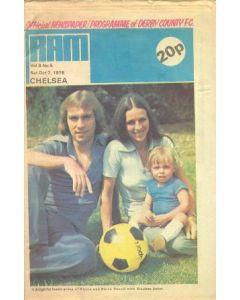 Derby County vChelsea official progremme 07/10/1978 newspaper