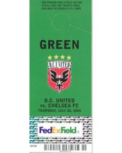 DC United V chelsea parking pass football memorbailia
