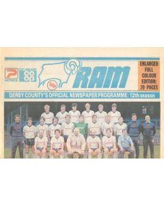 Derby County vChelsea official programme 29/01/1983 Ram newspaper