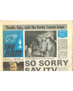 Derby County vChelsea Ram official newspaper of Derby County official programme 04/10/1972