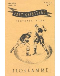 East Grinstead v Chelsea 'A' official programme 22/04/1953 the Richards Charity Cup Final