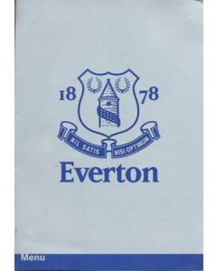Everton v Chelsea menu 18/11/2001
