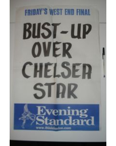 Evening Standard Bust-Up Over Chelsea Star poster