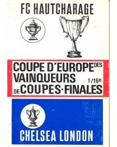 1971 Jeunesse Hautcharage v Chelsea Cup winners cup football programme