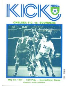 1977 seattle sounder v chelsea football programme