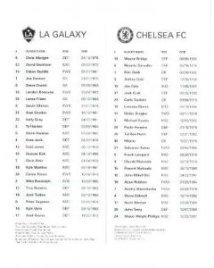 LA Galaxy v Chelsea official programme 14/07/2007