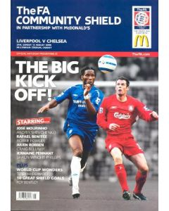 2006 Community Shield Liverpool v Chelsea official programme 13/08/2006